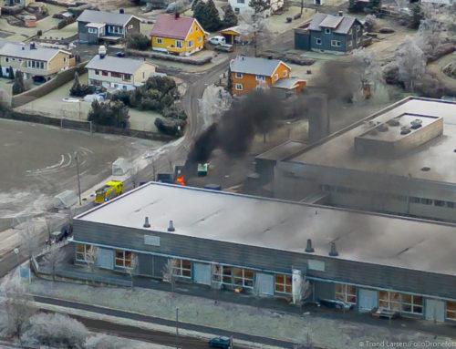 Det smalt og brant bak Vestby Videregående skole