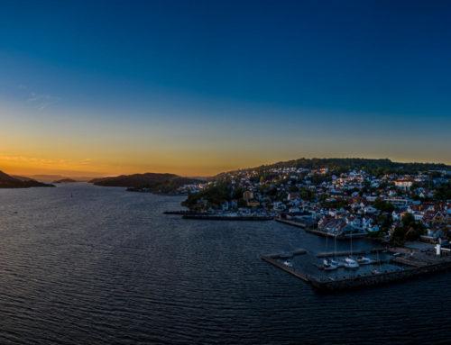 Solnedgang over Drøbak