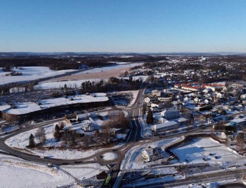 Vestby sentrum en kald februar ettermiddag